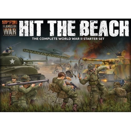 """Hit The Beach"" Army Set (German & American 11x Tanks, 2x Guns, 96x figs - Plastic)"