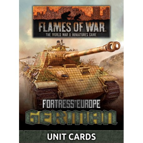 German Unit Cards (Late War x49 cards)
