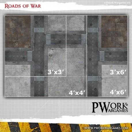 Pwork Roads of War  Wargames Terrain Mat