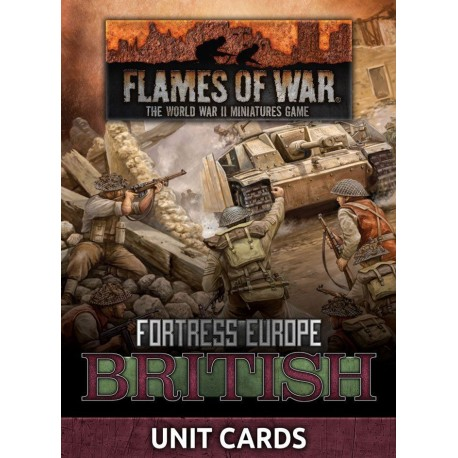 British Unit Cards (Late War x24 cards)