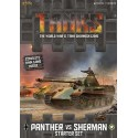 TANKS01 Tanks - Panther vs Sherman Starter Box